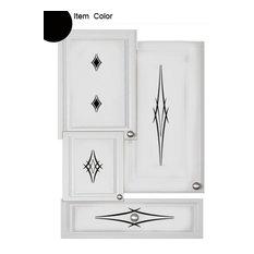 Kitchen Cabinet Decals, Barbs Theme, Black