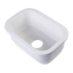 Small Recntangle Fireclay Undermount or Drop, Prep/Bar Sink