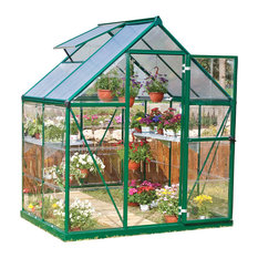 Palram - Canopia Nature Series Hybrid Hobby Greenhouse - 6' x 8' Silver, Forest