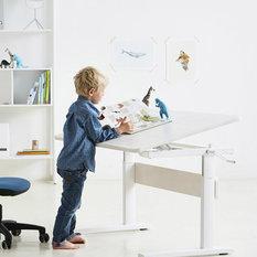 escritorio regulable y basculante de madera natural blanco escritorios y juegos de escritorio infantiles