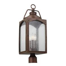 3, Light Post/Pier Lantern by Feiss, Black Finish