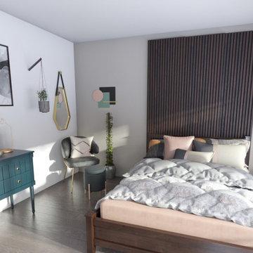 Bedroom and Living Room Area Digital Design 1
