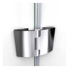 "DreamLine Aqua 48"" Frameless Hinged Tub Door, Clear Glass, Brushed Nickel"