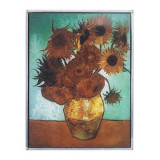 Van Goghs Sunflowers 1888 Art Glass