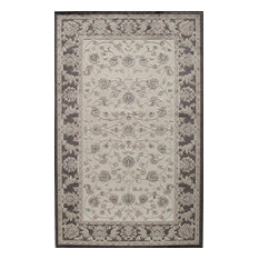 "Riviera Rug, Ivory and Black, 2'7""x4'11"""