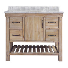 "Bay - Sherelle Vanity, Driftwood, 42"" - Bathroom Vanities and Sink Consoles"
