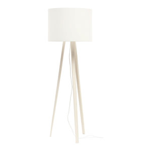 Tall Luca Stand Uni Floor Lamp, White