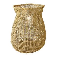 Manila Hemp Braided Basket, Natural