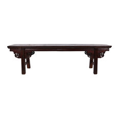 Consigned 79-inch Chinese Antique Ming Spring Bench/Coffee Table 27S03
