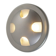 Quattro LED Semi-Recessed Spot, Matte Chrome/Amber, Included J-Box