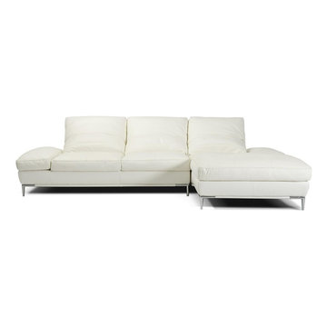 White L Shape Sectional Sofa in High Quality Leather