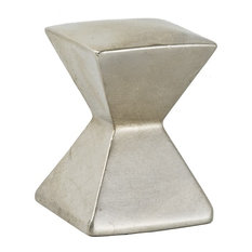 """Forged 2"" Large Square Knob 1-1/8"", Satin Nickel"