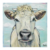"""""""When Cows Fly"""" Painting Print on Canvas by Tori Campisi"""