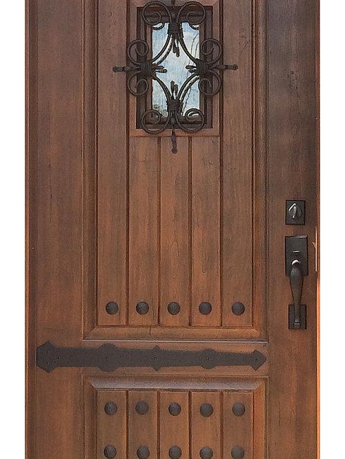 Front Door - Black Walnut Fiberglass Rustic Door - Front Doors & Rustic Doors