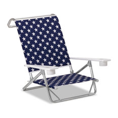 Mini-Sun Chaise Folding Arm Chair, Polymer Arms, Betsy, Set of 2