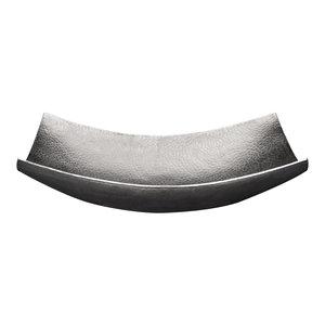 """18"""" Rectangle Modern Slope Hammered Copper Sink, Nickel"""