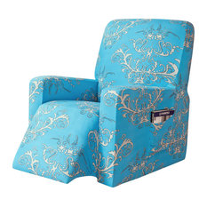 subrtex Printed Recliner Chair Slipcover Stretch Furniture Protector, Blue