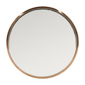 GDF Studio Ryan Circular Wall Mirror With Rose Gold Stainless Steel Frame