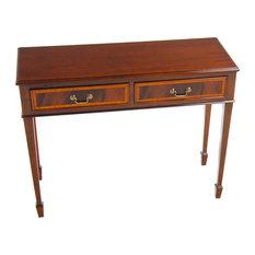 Niagara Furniture   Niagara Furniture, Small Mahogany Banded Console   Console  Tables
