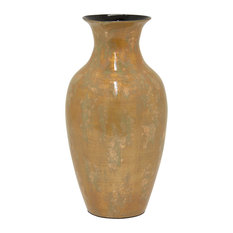 Three Hands Lacquer Vase, Brown, 17.5""