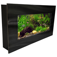 Aussie Aquariums 2.0 Wall Mounted, Brushed Black