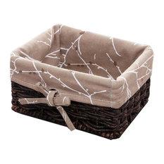 The Cane Makes Up Of Cloth Art Desktop Storage Basket Straw Storage Baskets