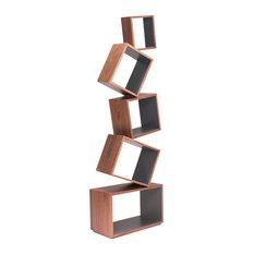 Malagana Design - Equilibrium, Walnut-Graphite - Bookcases