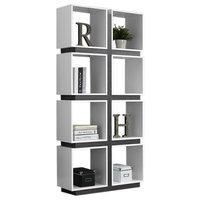 """Monarch Specialties Bookcase, 71"""", White/Gray, I7076"""
