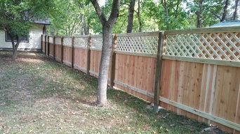 Custom cedar fence with lattice top