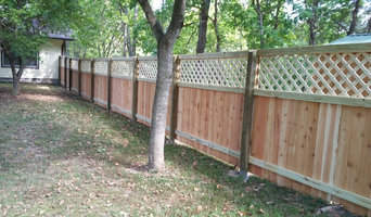 Custom cedar fence with lattice top