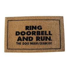 """""""Ring Doorbell and Run"""" Doormat"""