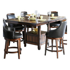 Homelegance Bayshore Extension Counter Height Table With Storage Base