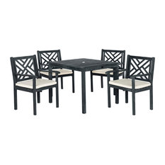 Safavieh Bradbury 5-Piece Outdoor Dining Set, Dark Slate Gray