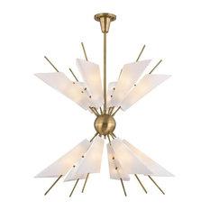 Hudson Valley Lighting 8069-Agb Cooper Chandelier, Aged Brass