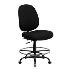 Flash Furniture Big and Tall Black Fabric Drafting Chair