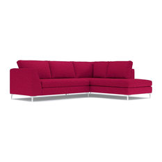 Apt2B - Mulholland 2-Piece Sectional Sofa, Pink Lemonade, Chaise on Right - Sectional Sofas