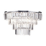 5 Light Chisel Prism Bar Ceiling Flush Light, Chrome