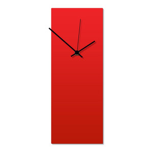 Redout Black Clock, Modern Metal Wall Clock, Minimalist Red ...