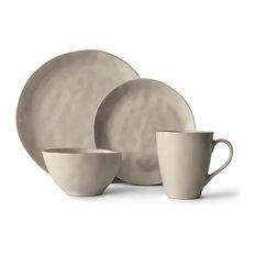 16-Piece Huron Dinnerware Set, Gray