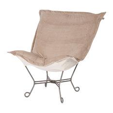 Bella Sand Puff Scroll Chair With Titanium Frame 500-224