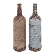 Vintage Reflections Ceramic Vases, Multi-Color, 2-Piece Set