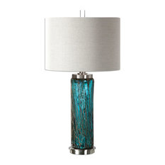 """Uttermost 27087 Almanzora Accent Table Lamp 29.75"""" in Height - Brushed Nickel"""