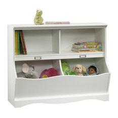 Pogo Bookcase/footboard, Soft White 3a