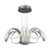 "Capella 29.92"" 70W 1 LED Flower-Pedal Chandelier, Aluminum"