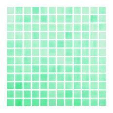 """12.5""""x12.5"""" Fog Caribbean Green Glass Tile"""