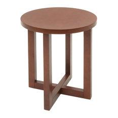 Regency Chloe Round Veneer End Table in Cherry