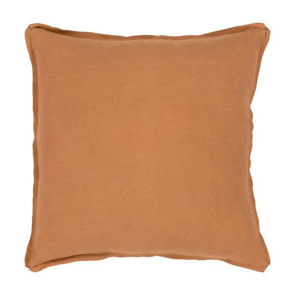 SuryaSolid Accent Pillow, Burnt Orange