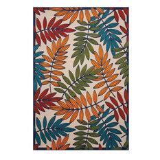 "Nourison Aloha Indoor/Outdoor Area Rug, Multicolor, 5'3""x7'5"""