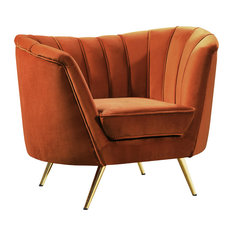 Margo Cognac Velvet Chair Cognac