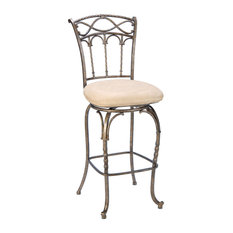 Hillsdale Kendall Barstool With Memory Swivel Fawn Faux Suede Bar Stools And Counter